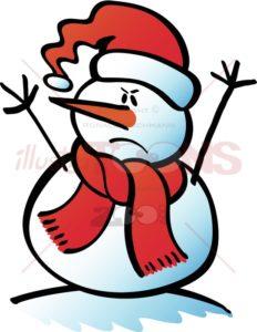 Angry-Christmas-snowman