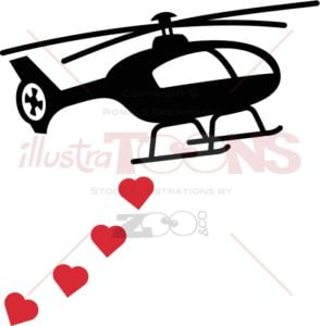 Black-helicopter-bombing-red-hearts