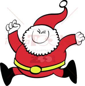 Christmas-Santa-Claus-running-joyfully