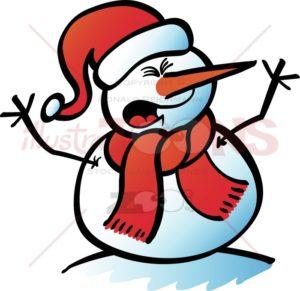 Christmas-Snowman-yelling