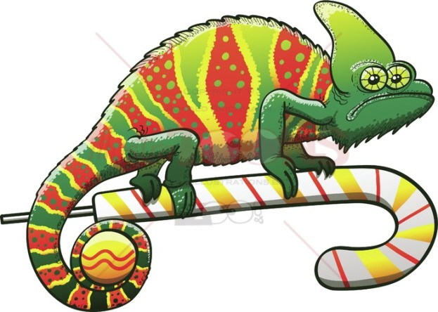 Christmas-chameleon-with-perfect-camouflage