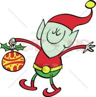 Christmas-elf-bringing-a-decorated-bauble