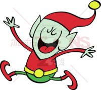 Christmas-elf-jumping-and-celebrating
