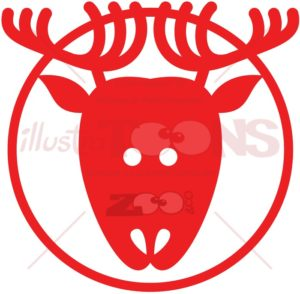 Christmas reindeer pictogram - illustratoons
