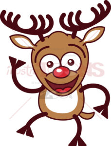 Christmas-reindeer-waving-animatedly