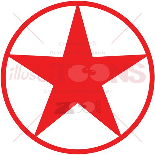 Christmas star pictogram - illustratoons