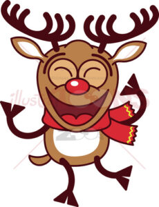 Cool-Christmas-reindeer-dancing-animatedly