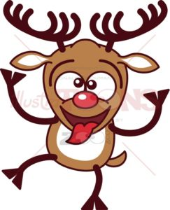 Cool-Christmas-reindeer-making-funny-faces