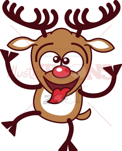 Cool Christmas reindeer making funny faces