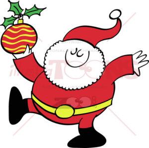 Cool Santa Claus bringing a Christmas bauble 1740