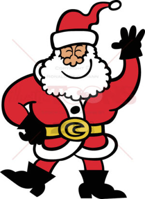 Cool Santa Claus greeting