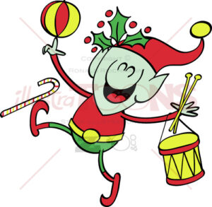 Cool-Santa-elf-celebrating-Christmas-joyfully