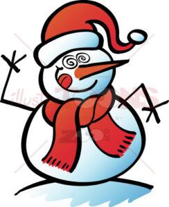 Crazy-Christmas-snowman-making-a-goofy-face