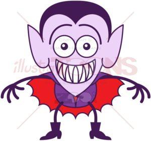 Halloween Dracula feeling embarrassed - illustratoons
