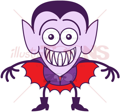 Halloween Dracula feeling embarrassed - illustratoons