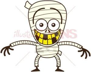 Halloween mummy feeling embarrassed - illustratoons