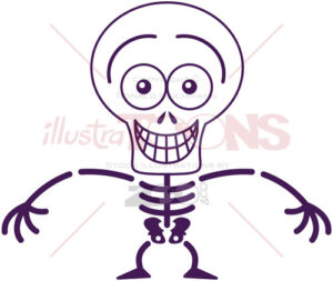 Halloween skeleton showing embarrassment - illustratoons