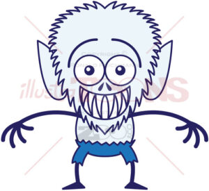 Halloween werewolf feeling embarrassed - illustratoons