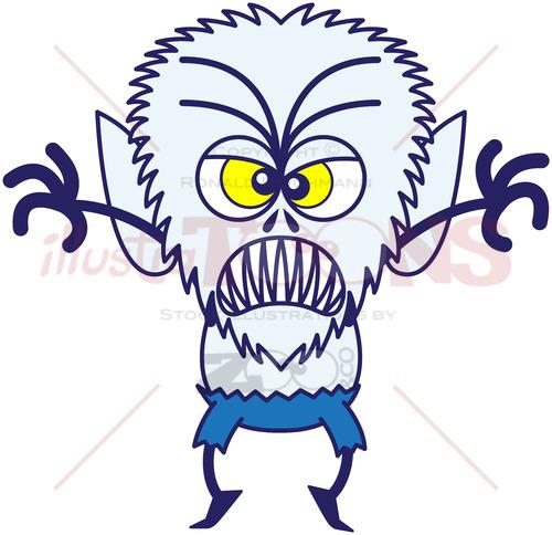 Halloween werewolf in full scary mood - illustratoons
