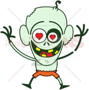 Halloween zombie irremediably falling in love - illustratoons
