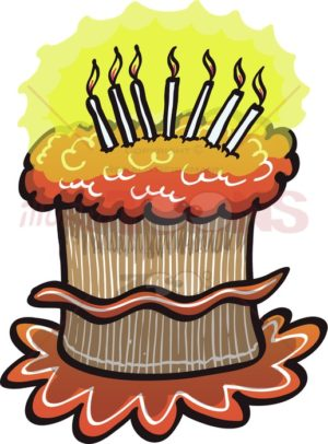 Happy Birthday cake - illustratoons
