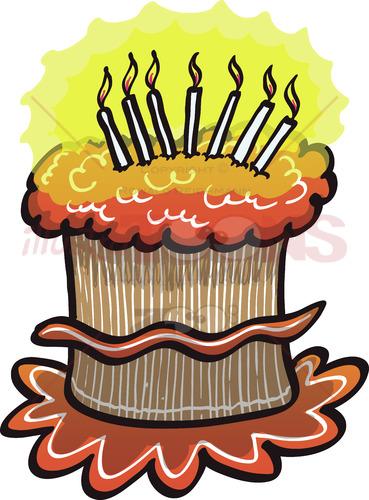 Happy Birthday cake - illustratoons
