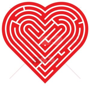 Heart shaped labyrinth - illustratoons