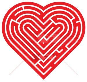 Heart shaped labyrinth - illustratoons