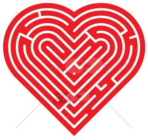 Heart shaped labyrinth 2