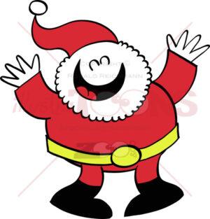 Nice Santa Claus laughing and celebrating