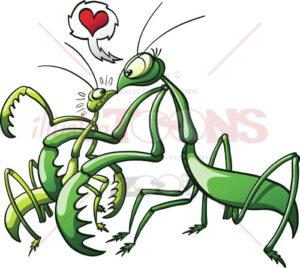 Praying-mantis-forcing-her-mate-to-love