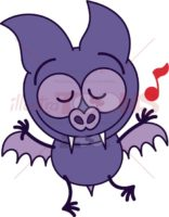 Purple-bat-dancing-animatedly