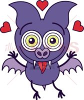 Purple-bat-feeling-head-over-heels-in-love