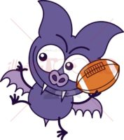 Purple-bat-playing-football