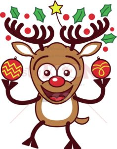 Reindeer-bringing-Xmas-baubles-and-ornaments