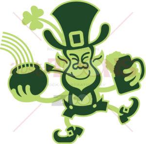 Saint Paddy's Day dancing Leprechaun - illustratoons