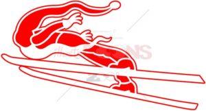 Santa Claus loves extreme ski jumping - illustratoons