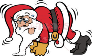 Santa-Claus-training-by-doing-push-ups