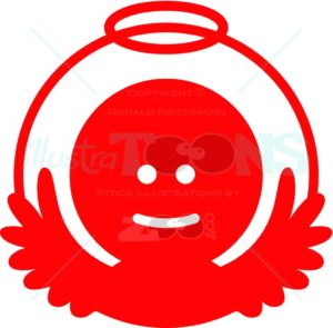 Smiling-Christmas-angel-pictogram