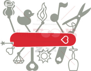 Swiss army knife for passionate and romantic lovers - illustratoons