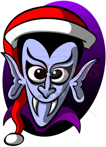 Terrifying Christmas Dracula - illustratoons