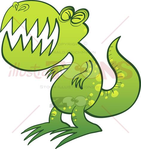 Tyrannosaurus Rex groaning angrily - illustratoons