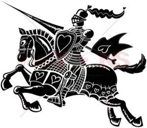 Black loving knight - illustratoons