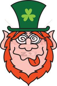 Green Leprechauns get crazy celebrating St Paddy's Day! - illustratoons