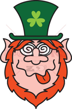 Green Leprechauns get crazy celebrating St Paddy's Day! - illustratoons