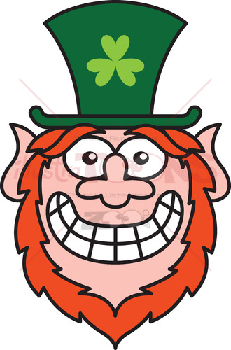 Mischievous Leprechaun feeling embarrassed - illustratoons