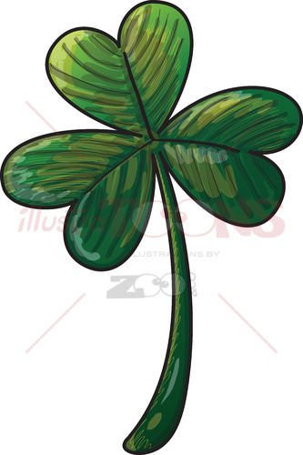 Saint Paddy's Day shamrock clover - illustratoons