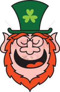 Saint Patrick's Day Leprechaun feeling proud and smiling - illustratoons