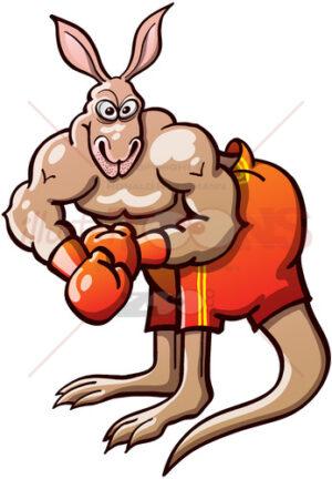 Terrific boxing kangaroo - illustratoons