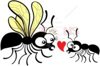 Shy worker ant declaring love to queen ant - illustratoons